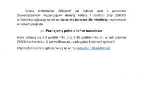 ZSRCKU - Poznajemy polskie tańce narodowe